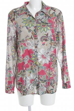 Brax Langarm-Bluse Allover-Druck Street-Fashion-Look