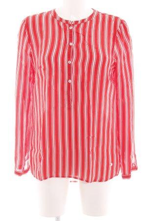 Brax Langarm-Bluse rot-weiß Streifenmuster Business-Look