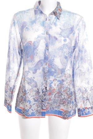 Brax Langarm-Bluse florales Muster Casual-Look