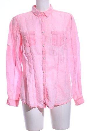 Brax Shirt met lange mouwen roze zakelijke stijl