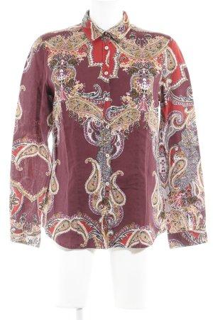 Brax Langarmhemd florales Muster extravaganter Stil