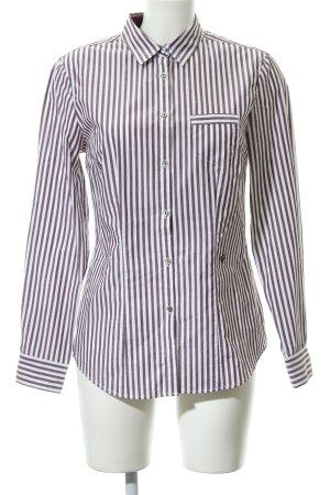 Brax Camisa de manga larga blanco-rojo zarzamora estampado a rayas
