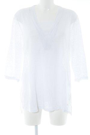 Brax Blusa de lino blanco estilo «business»