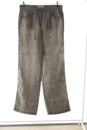 Brax Pantalón de lino marrón look casual