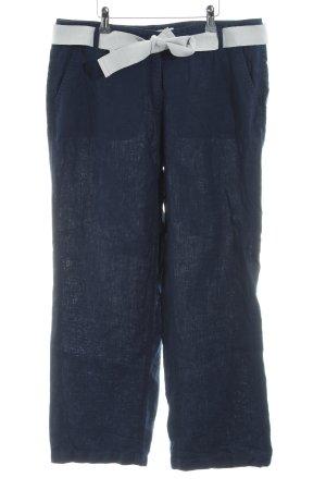 Brax Pantalón de lino azul look casual