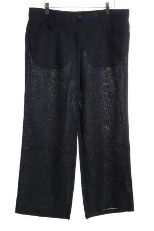 Brax Linnen broek zwart zakelijke stijl