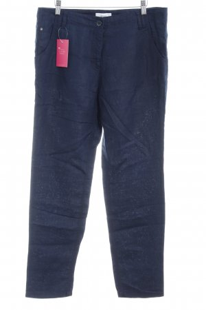 Brax Linnen broek donkerblauw casual uitstraling