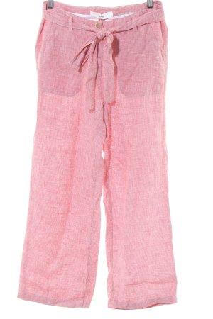 Brax Leinenhose pink Karomuster Casual-Look