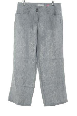 Brax Pantalone di lino grigio chiaro stile semplice
