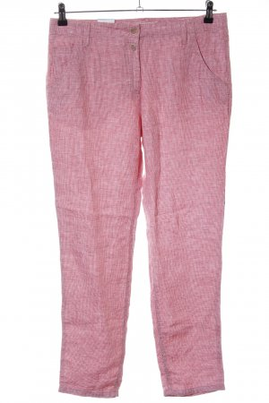 Brax Linen Pants red-white houndstooth pattern retro look