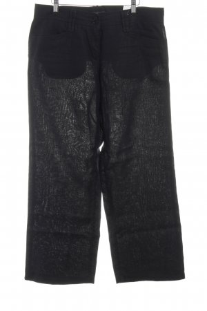 Brax Pantalón de lino negro estilo sencillo