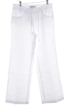 Brax Linnen broek wit casual uitstraling