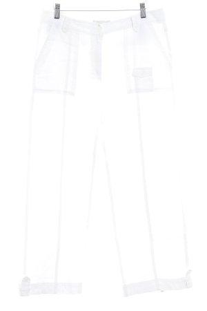 Brax Leinenhose weiß schlichter Stil
