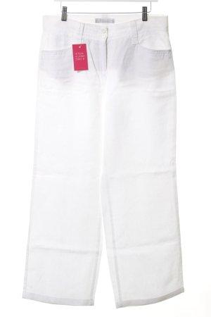 Brax Pantalón de lino blanco estilo sencillo