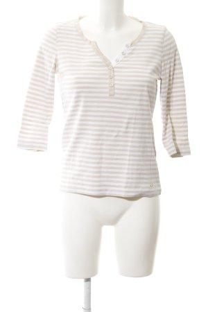 Brax Longsleeve weiß-creme Streifenmuster Casual-Look