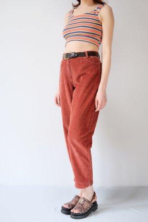Brax Hoge taille broek roodbruin Katoen