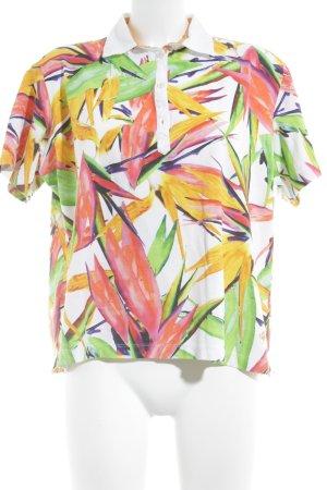 Brax Polo-Shirt abstrakter Druck Casual-Look