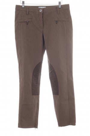 Brax Riding Trousers black-light brown houndstooth pattern casual look