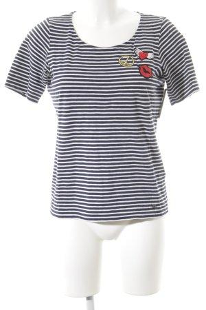 Brax Stripe Shirt horizontal stripes minimalist style