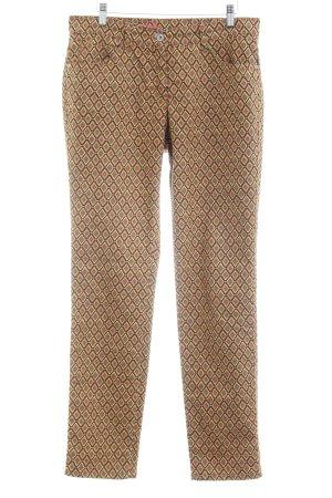 Brax Drainpipe Trousers Aztec pattern street-fashion look