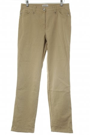 Brax Drainpipe Trousers camel Logo application (leather)