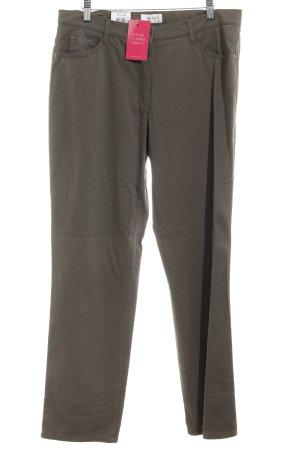 Brax Drainpipe Trousers green grey casual look