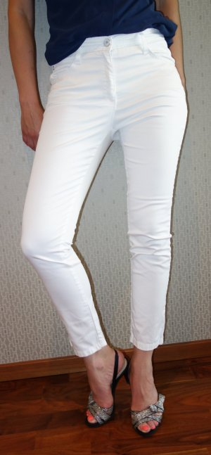 Brax Vijfzaksbroek wit Katoen