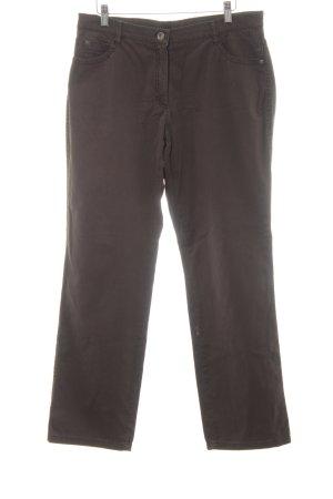 Brax Pantalón de campana marrón-marrón-negro look casual