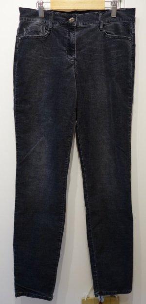 BRAX Shakira Jeans Slim Fit Feincord anthrazit Gr. M (38) stretch