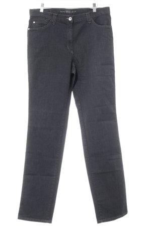 Brax Slim Jeans anthrazit Schriftzug gestickt Casual-Look
