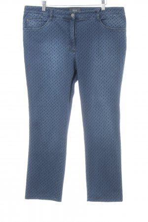 Brax Slim Jeans dunkelblau-schwarz Punktemuster Casual-Look