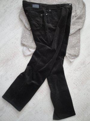 Brax Pantalone di velluto a coste nero Cotone