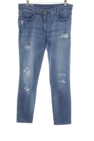 Brax Straight-Leg Jeans blau Destroy-Optik