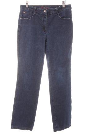 Brax Straight-Leg Jeans dunkelblau Casual-Look
