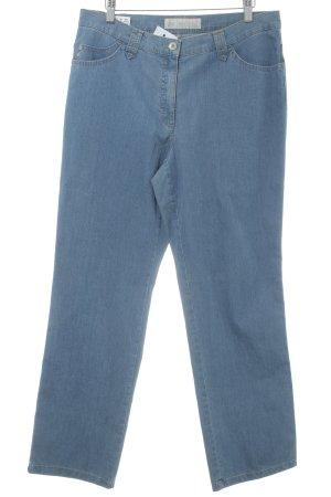 Brax Straight-Leg Jeans graublau meliert Used-Optik