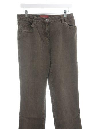 Brax Jeans coupe-droite gris brun style décontracté
