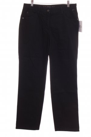 Brax Straight-Leg Jeans schwarz Steppmuster Casual-Look