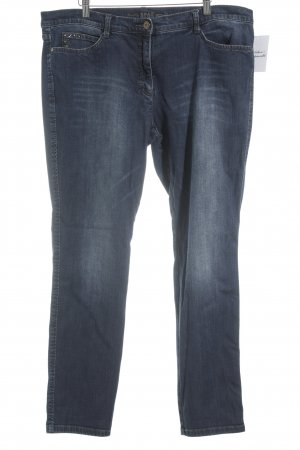 Brax Straight-Leg Jeans weiß-blau meliert Jeans-Optik