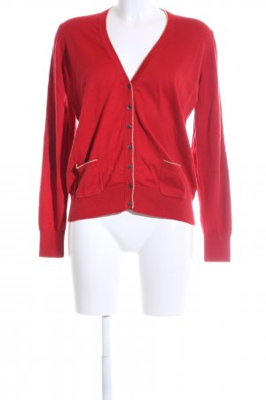Brax Strickjacke rot-wollweiß Business-Look