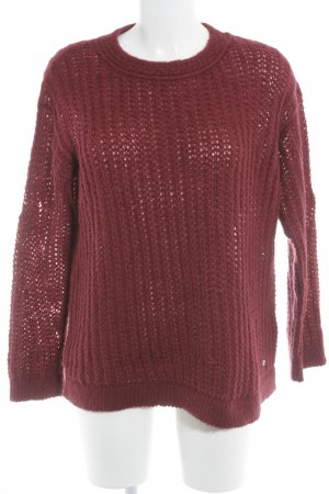 Brax Strickpullover karminrot Casual-Look