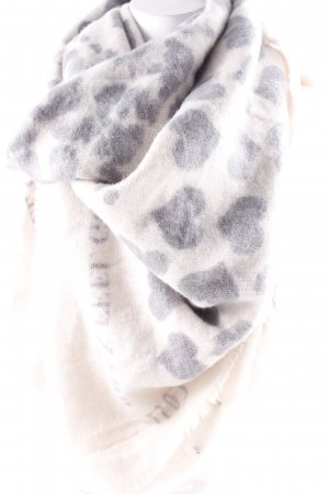 Brax Knitted Scarf natural white-slate-gray Herzmuster casual look