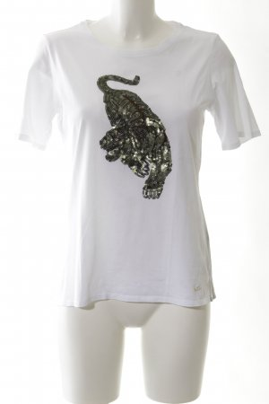 Brax T-Shirt weiß Animalmuster Casual-Look