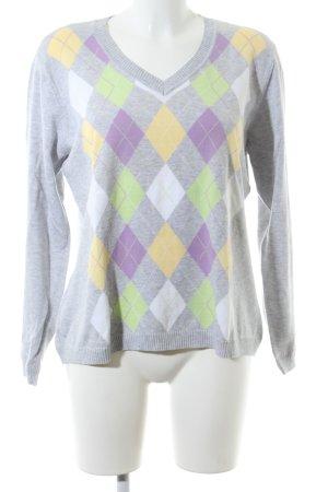 Brax V-Ausschnitt-Pullover Karomuster Casual-Look