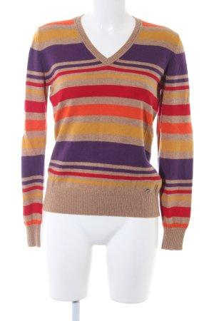 Brax V-Ausschnitt-Pullover Streifenmuster Casual-Look