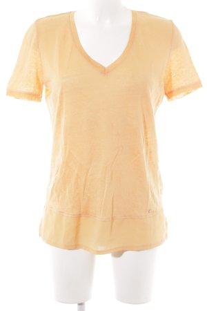 Brax V-Ausschnitt-Shirt orange Casual-Look