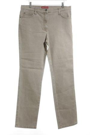 Brax Pantalon en laine chameau rayure fine style décontracté