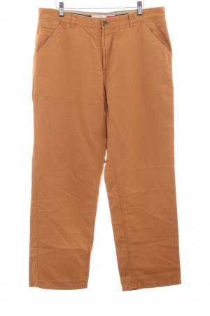 Brax Wollen broek donker oranje simpele stijl