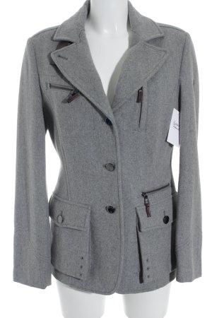 Brax Veste en laine gris clair style décontracté