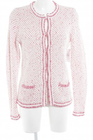 Brax Wolljacke pink-weiß Hahnentrittmuster Casual-Look