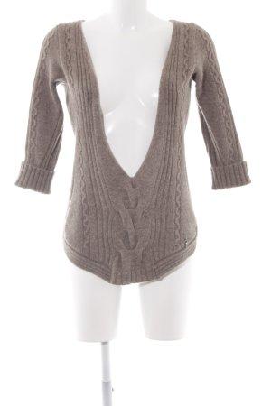 Bray Steve Alan Knitted Sweater grey brown weave pattern fluffy